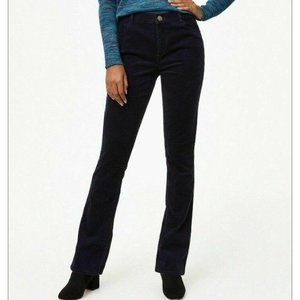 LOFT NWT Corduroy Boot Cut Pants Jeans Modal Black
